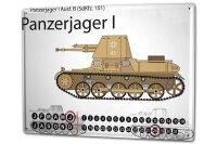 Perpetual Calendar Retro Tank Hunter 1 Tin Metal Magnetic