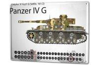 Perpetual Calendar Retro battle tank IV G Tin Metal Magnetic