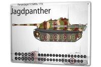 Perpetual Calendar Retro Jagdpanther Tin Metal Magnetic