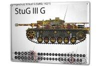 Perpetual Calendar Retro StuG III G tank Tin Metal Magnetic