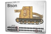 Perpetual Calendar Retro Tank Bison Tin Metal Magnetic