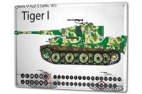 Perpetual Calendar Retro Tank Tiger I Tin Metal Magnetic