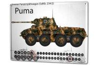 Perpetual Calendar Retro Tank Puma Tin Metal Magnetic