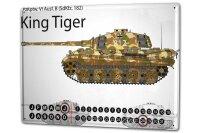 Perpetual Calendar Retro Tank Tiger Tin Metal Magnetic