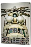 Perpetual Calendar Retro Helicopter Tin Metal Magnetic