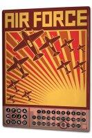 Perpetual Calendar Retro Air force Tin Metal Magnetic