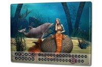 Perpetual Calendar rative Vet Practice Dolphin Mermaid...