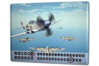 Perpetual Calendar Retro Air force army Tin Metal Magnetic