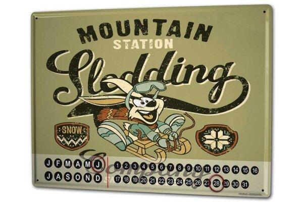 Dauer Wand Kalender Abenteurer Snow Valley Metall Magnet