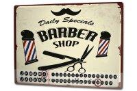 Perpetual Calendar Nostalgic Professional Barbershop Tin...