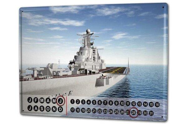Dauer Wand Kalender Militär Flugzeugträger Metall Magnet