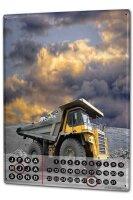 Perpetual Calendar Professional Guild Dump truck Tin...