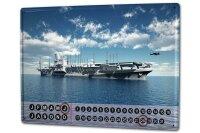Perpetual Calendar Arms Aircraft carrier Tin Metal Magnetic