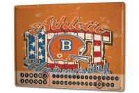 Perpetual Calendar Fun American football Tin Metal Magnetic