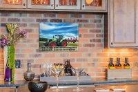 Perpetual Calendar Nostalgic Professional Farmer Tin...