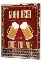 Perpetual Calendar Bar Party Beer Tin Metal Magnetic