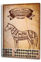 Perpetual Calendar Retro Horse meat Tin Metal Magnetic
