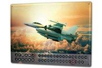 Perpetual Calendar Travel Airport rative Jet Tin Metal...