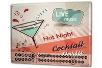 Perpetual Calendar Bar Party Cocktail party Tin Metal...