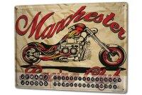 Perpetual Calendar Garage Chopper Tin Metal Magnetic