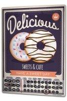 Perpetual Calendar Kitchen Donuts Tin Metal Magnetic