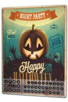 Perpetual Calendar Retro Halloween Tin Metal Magnetic