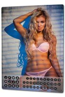 Perpetual Calendar Sexy Girl Blond Angel Tin Metal Magnetic