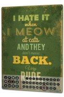 Perpetual Calendar rative Vet Practice Saying Meow Tin...