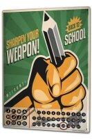 Perpetual Calendar Office Workshop Pencil weapon Tin...