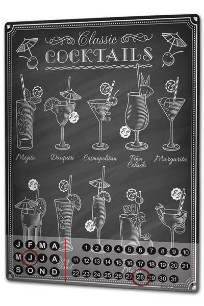Dauer Wand Kalender Bar Party Strandbar Metall Magnet