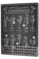 Perpetual Calendar Nostalgic Alcohol Retro Cocktails Tin...