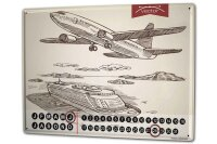 Perpetual Calendar Fun rative Airplane boat trip Tin...