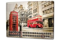 Perpetual Calendar Travel Kitchen London red bus phone...