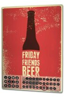 Perpetual Calendar Brewery Beer Kitchen Fridays friends...