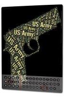 Perpetual Calendar Retro Pistol US Army Tin Metal Magnetic