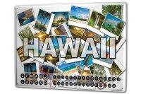 Perpetual Calendar Holiday Travel Agency Hawaii Tin Metal...