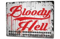 Perpetual Calendar Fun Bloody Hell Tin Metal Magnetic