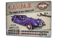 Perpetual Calendar Vintage Car Auto repair Tin Metal...