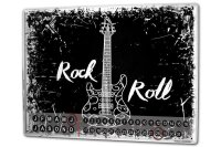 Perpetual Calendar Cinema Rock n roll Tin Metal Magnetic