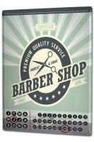 Perpetual Calendar Nostalgic Professional barber shop Tin...