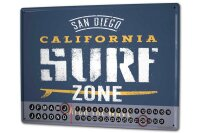 Perpetual Calendar Holiday Travel Agency Surf zone Tin...