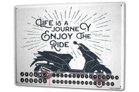 Perpetual Calendar Garage Enjoy ride Tin Metal Magnetic