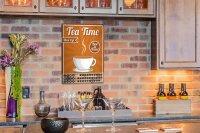 Perpetual Calendar Nostalgic Tea time Tin Metal Magnetic