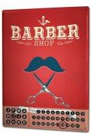 Perpetual Calendar Professional Guild Barber Shop Tin...