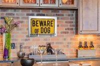 Perpetual Calendar Animal Shelter Beware dog Tin Metal...