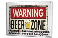 Perpetual Calendar Retro Art Beer zone Tin Metal Magnetic