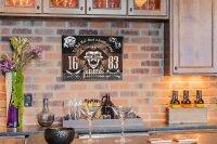 Perpetual Calendar Bar Party Pirate rum Tin Metal Magnetic