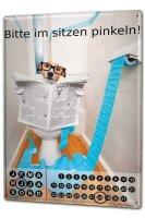 Perpetual Calendar rative Funny Dog toilet Tin Metal...