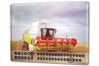 Perpetual Calendar rative Tractor Garages Combine...