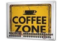 Perpetual Calendar Coffee Cafe Bar Coffee zone Tin Metal...